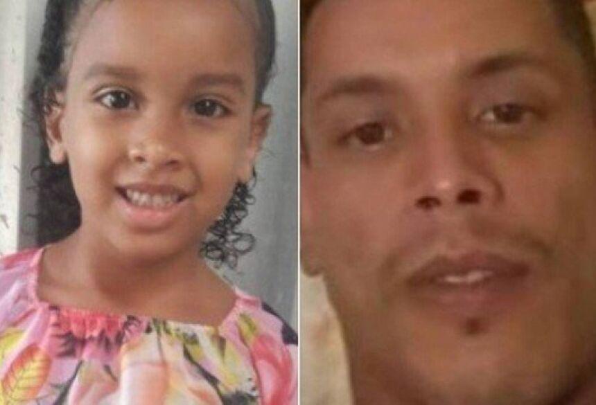 Estela e Paulo Sérgio: Justiça decretou a prisão de tio de menina morta Foto: Reprodução