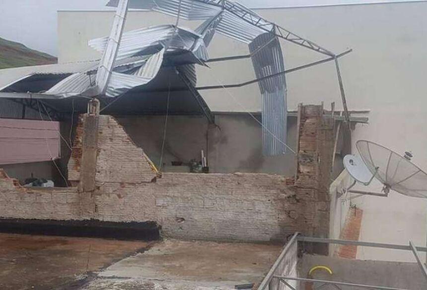 Vendaval causou destruição em Alegre, no Espírito Santo Foto: Secom ES/Divulgação / Estadão Conteúdo