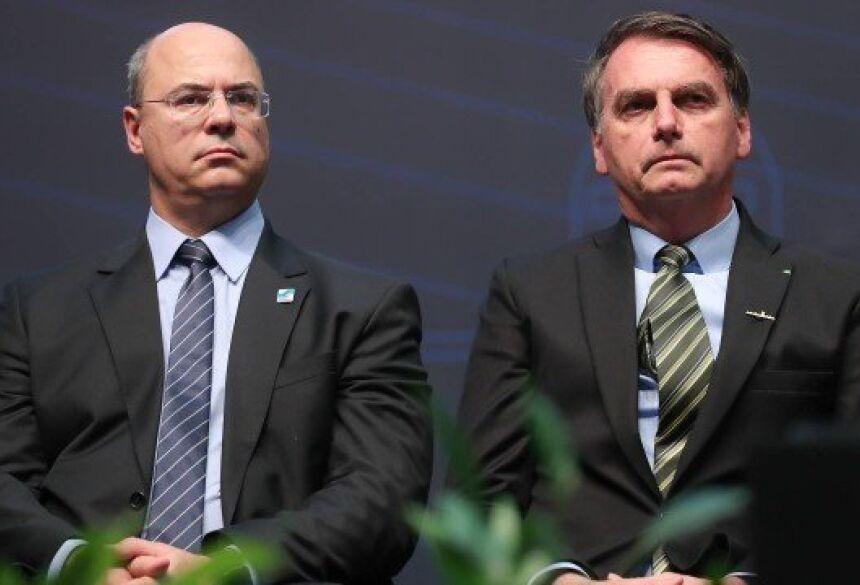 Wilson Witzel e Jair Bolsonaro Foto: Marcos Corrêa / Agência O Globo