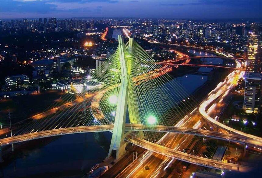 Vista parcial da cidade de São Paulo - Imagens: Google