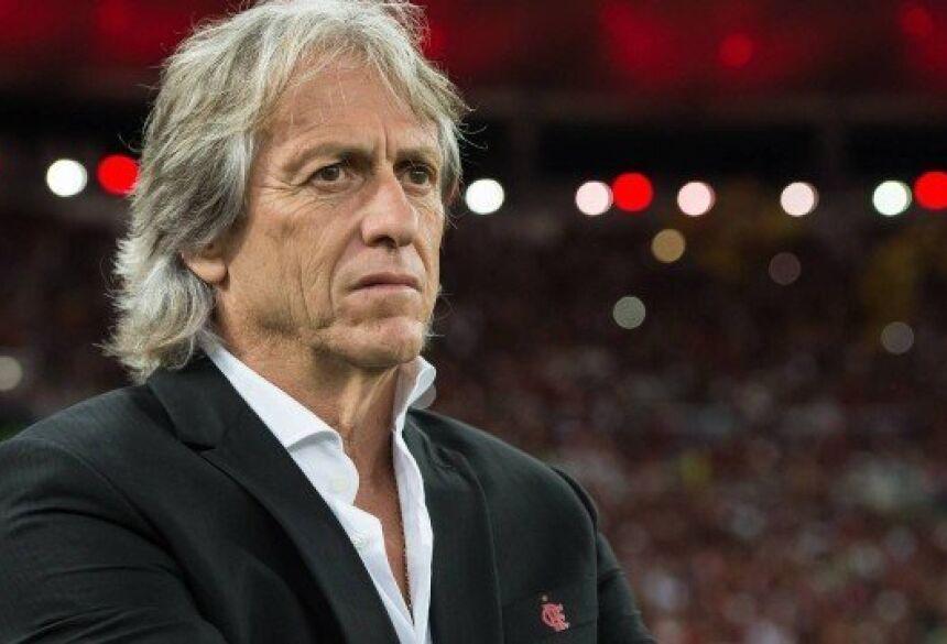 Jorge Jesus já recebeu proposta para ficar mais duas temporadas no Flamengo Foto: Alexandre Vidal / Flamengo