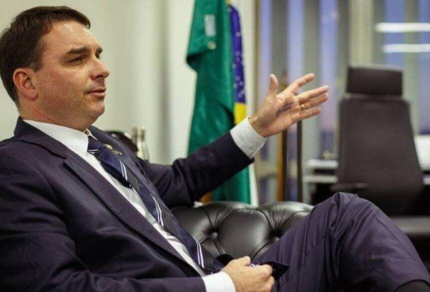 Senador Flávio Bolsonaro Foto: Daniel Marenco/ Agência O Globo