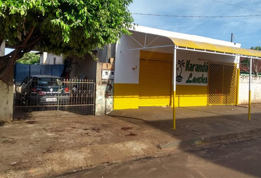 Local onde ocorreu a tentativa de assassinato (Foto: Whashingtom Lima)