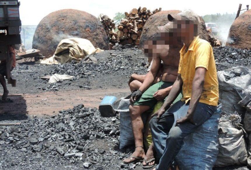 Trabalhadores são resgatados em situação de escravidão em fazendas de MS. — Foto: Ministério Público do Trabalho/divulgação