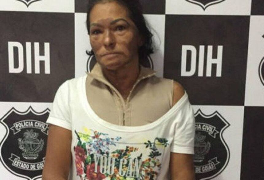 Rosemir de Araújo Gueremito de Souza confessou ter ateado fogo no próprio marido Foto: Divulgação/PCGO