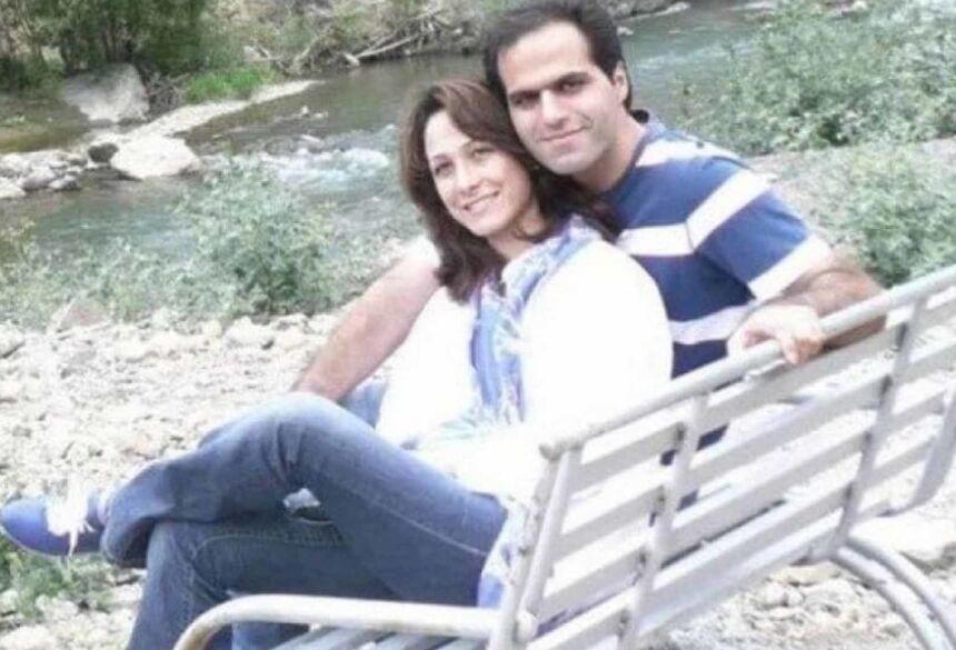 Mohsen Ahmadipour e Roja Azadian (Foto: Reprodução/Facebook)