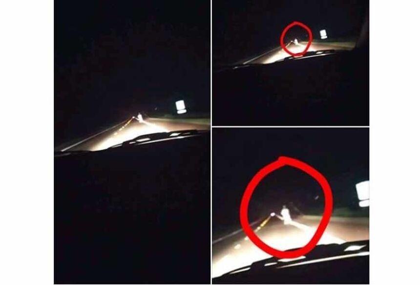 Achando a foto estanha, o estudante enviou a imagem para o perfil Paranormal e Ufologia