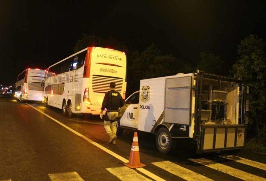 Caso aconteceu na madrugada desta quarta-feira (12), em Campina Grande do Sul — Foto: Tony Mattoso/RPC