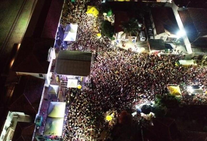Imagem aérea do carnaval de rua de Campo Grande - Divulgação