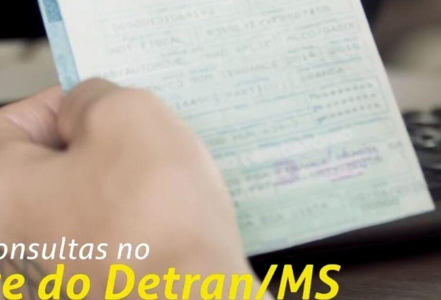 Sem sair de casa, condutor pode consultar vários serviços no site do Detran-MS