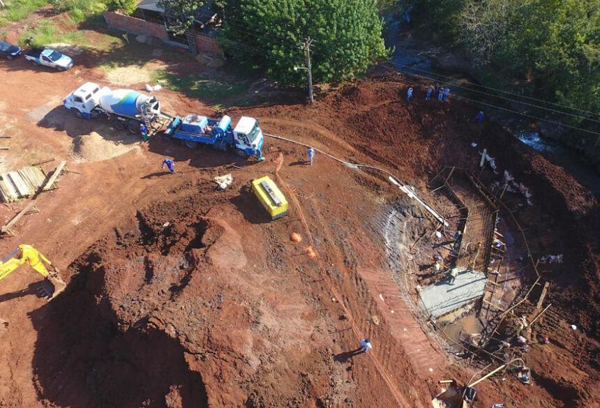 Infraestrutura: macrodrenagem em execução na obra do contorno viário de Ponta Porã. Foto: Divulgação