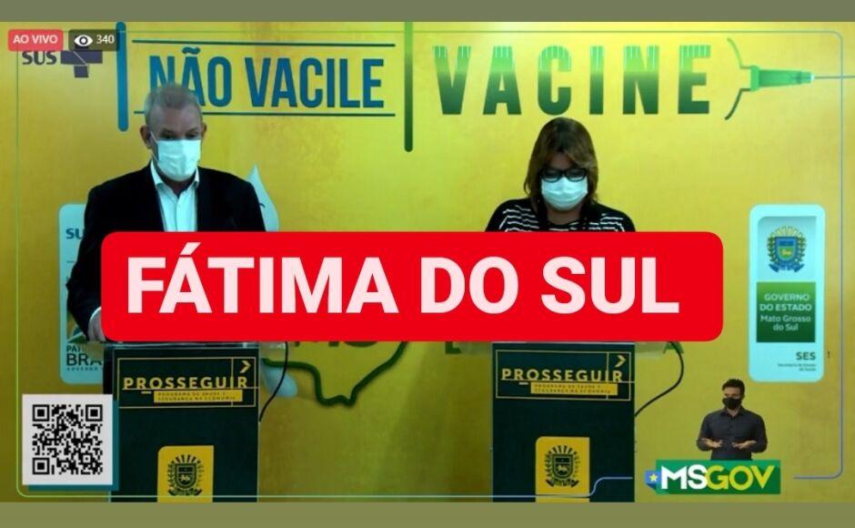 Com 84 casos sendo monitorados, boletim deste sábado registra novos confirmados em Fátima do Sul