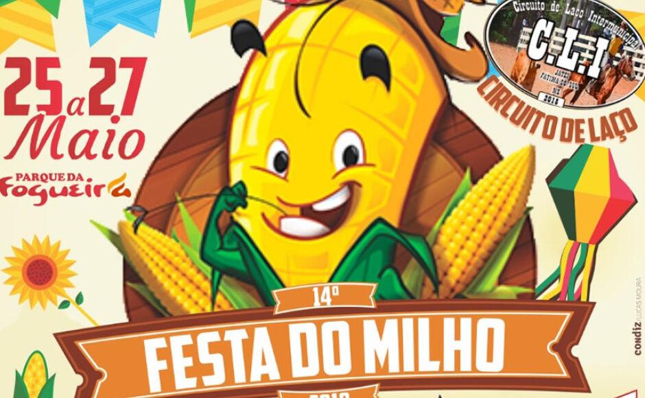 VEM AÍ – XIV Festa do Milho, serão três noites de shows no município de Jateí