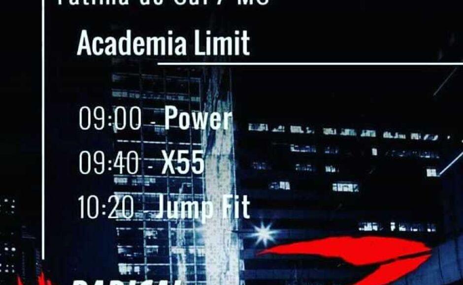 Limit Academia terá aula elaborada e franqueada da Radical Fitness neste sábado em Fátima do Sul