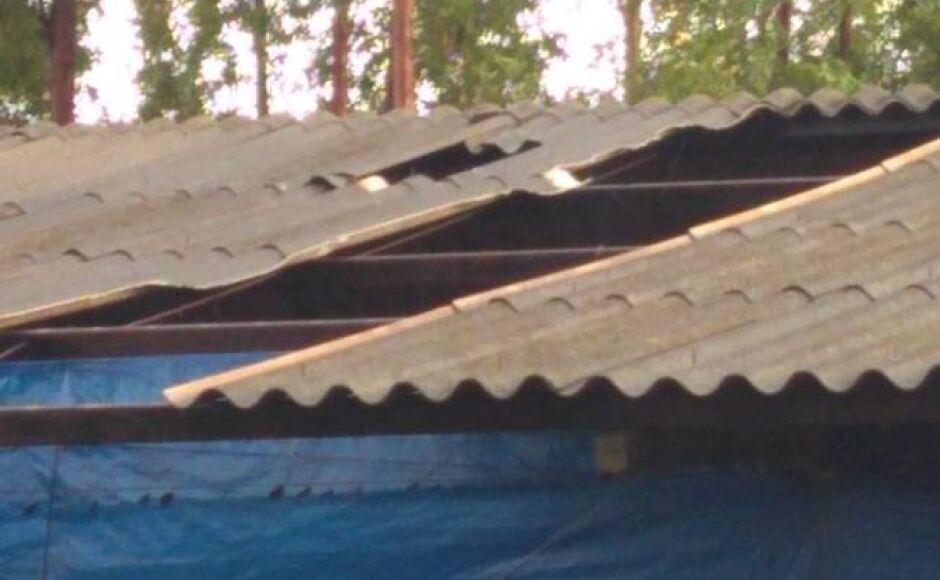 Rajadas de vento deixa prejuízos para produtor de suinocultura em Glória de Dourados