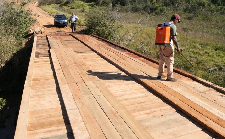 Reformada, trânsito sobre a ponte do Rio Verde já está liberado, informa prefeitura de Jateí