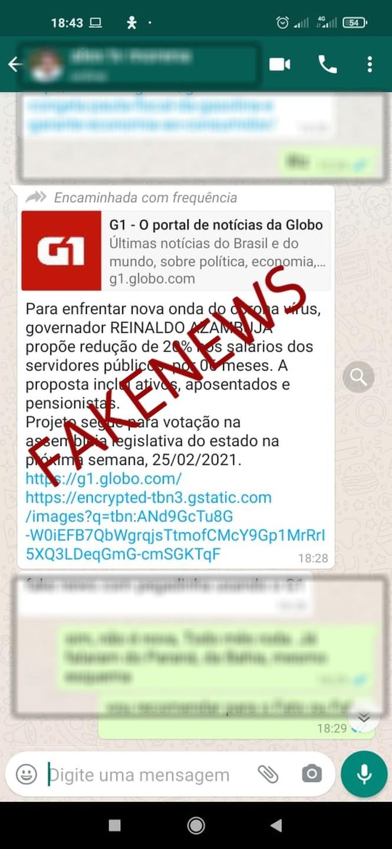 Governo de Mato Grosso do Sul desmente boatos de redução de 20% nos salários dos servidores públicos  Foto: Redes sociais