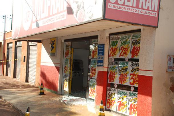 Supermercado onde o caixa está instalado. Foto: Washington Lima / Fátima News