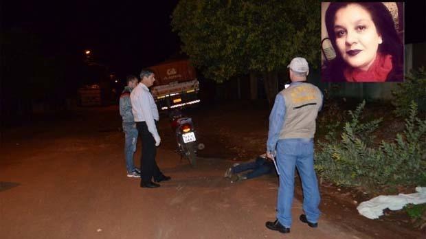 Foto: Sidnei Bronka / 94 FM. Mulher é assassinada com um tiro na nuca no Jardim Monte Líbano  Vanessa Costa Morito foi assassinada com um tiro na nuca