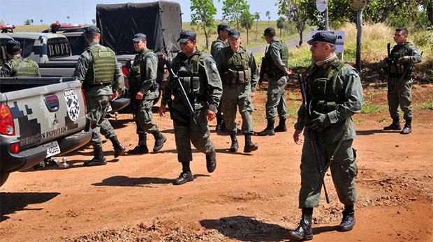 quipe do Bope participou de a��o - Valdenir Rezende / Correio do Estadoq