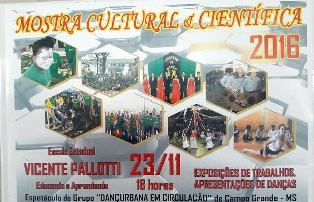Mostra Cultural e Científica acontece nesta quarta na Escola Vicente Pallotti em FÁTIMA DO SUL
