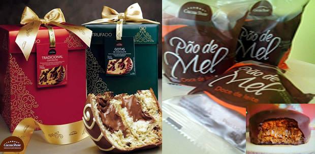 Panettones natalinos com recheio de trufas já estão no Ponto Extra da Cacau Show em FÁTIMA DO SUL
