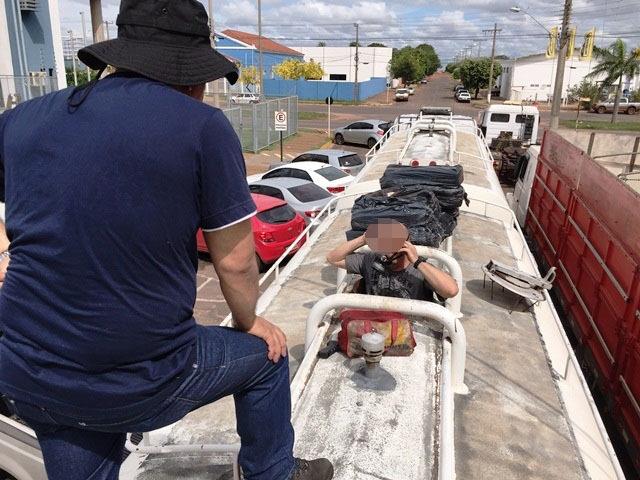 O carregamento de cocaína era transportado em tanque de combustível - Arquivo