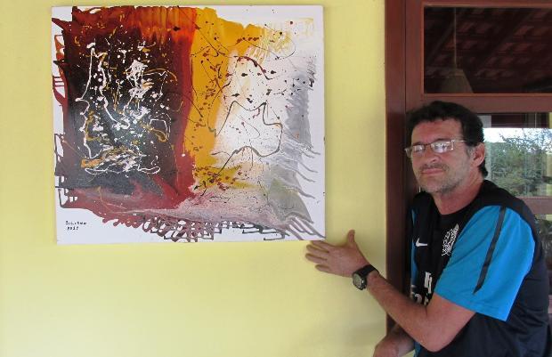Artista plástico visita o Águas de Bonito, conta sua história e apresenta 12 telas que estão a venda