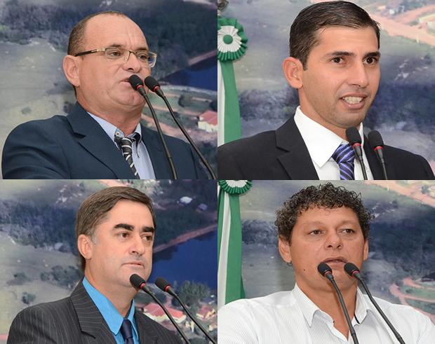 FOTOS: ROGÉRIO SANCHES / FÁTIMA NEWS - Vereadores pela ordem - Tingo - Robson - Tiquinho e Denilson