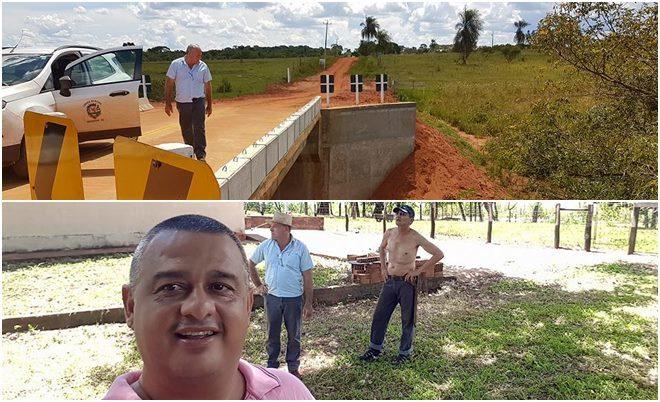 Presidente da Câmara e Prefeito 'curtiram' o feriado trabalhando na Zona Rural em DEODÁPOLIS