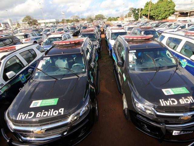 O veículos modelos Trailblazer e até descaracterizados serão destinados para todas as forças de segurança do Estado (Foto: Divulgação)