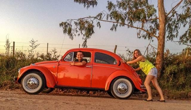 Casal de Guareí viaja 6 mil quilômetros de Fusca (Foto: Arquivo Pessoal/José Maria de Oliveira Junior)