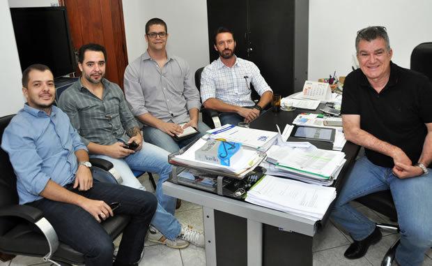 O Secretário Augusto Barbosa Mariano e sua equipe recepcionaram os organizadores do evento para reunião planejamento
