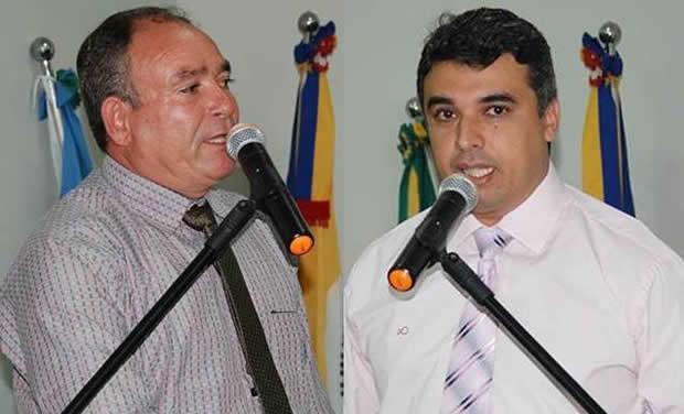 Vereadores Carmo Felismino da Silva (Sacolão) – PV e Milton César Gomes – PP – Foto Adauto Dias / glorianews