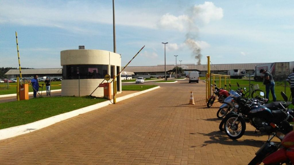 Unidade da JBS em Campo Grande (Foto: Osvaldo Nóbrega/TV Morena)