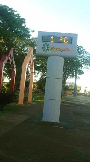Em Fátima do Sul foi registrado o dia mais frio do ano (foto facebook)