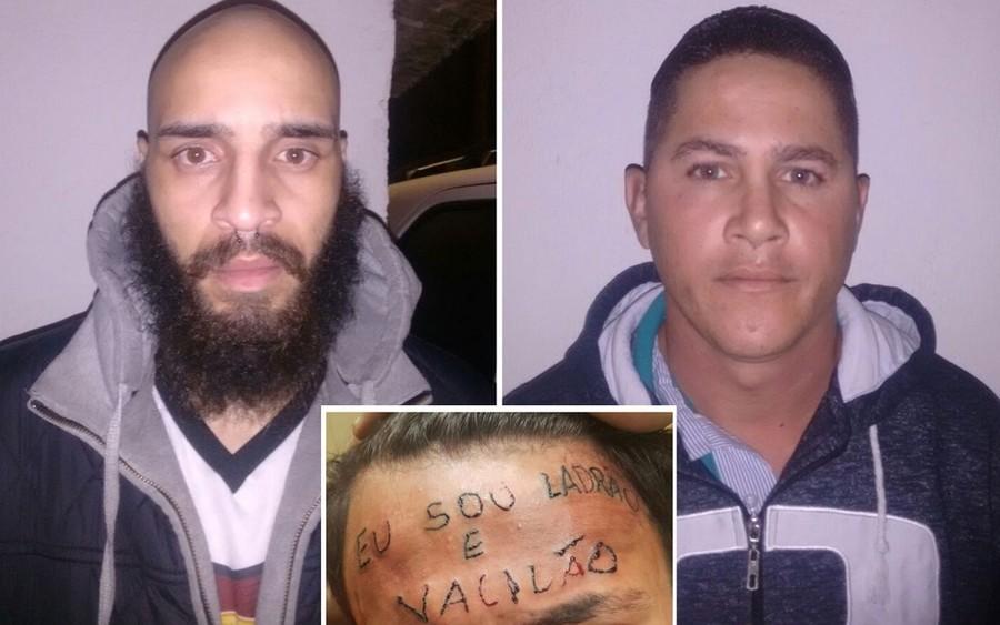Tatuador Maycon Reis e o vizinho Ronildo Moreira foram presos por torturar adolescente em São Bernardo do Campo - Foto: Divulgação/Polícia Civil