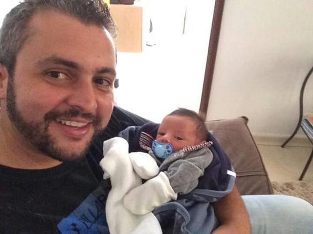 Cantor sertanejo morreu antes de batizar o afilhado, de três meses (Foto: Gustavo Braga/Arquivo pessoal)