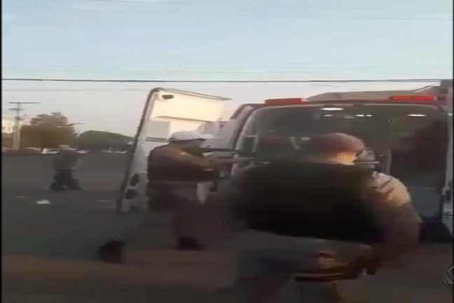 Policial é investigado por disparar balas de borracha contra ambulância em Uruguaiana