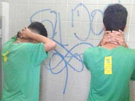 Os adolescentes foram levados para a delegacia (Foto: divulgação/Guarda Municipal)