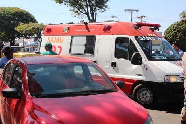 Mulher bateu na porta de VW Gol quando condutor, de 58 anos, abriu porta - Foto: Luciene Carvalho/Nova News