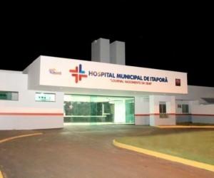Vitima foi levada ao hospital municipal (foto Itaporã News)