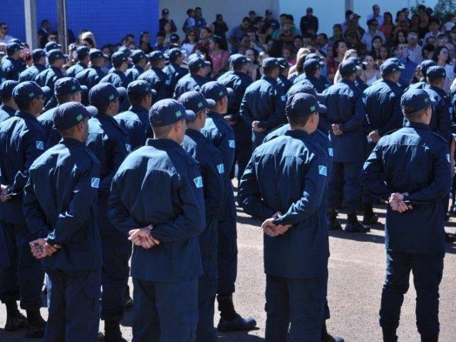 PMs em formação (Foto: Arquivo)
