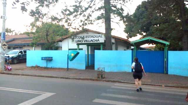A ameaça ocorreu na Escola Estadual Lino Villachá na terça-feira (29) (Rafael Ribeiro)