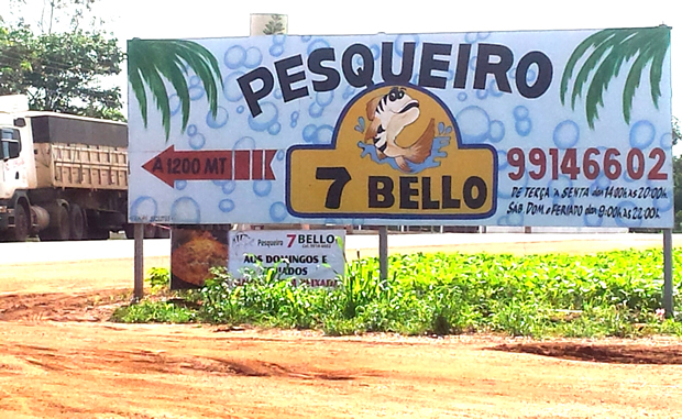 Pesqueiro 7 Bello, localizado na entrada do município de Vicentina - FOTO: ROGÉRIO SANCHES - FÁTIMA NEWS