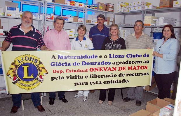 Visita do deputado Onevam na Maternidade de Glória de Dourados - Foto Adauto Dias / glorianews