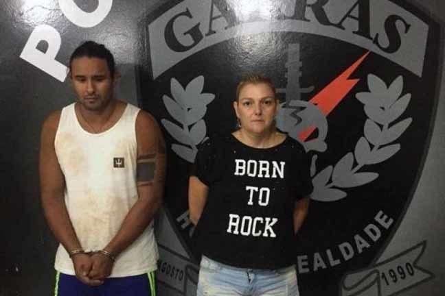 O DJ Mário Diego e Janaina Garcia foram presos