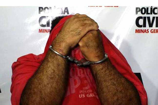 Pastor não quis responder os questionamentos de jornalistas e escondeu o rosto das câmeras durante apresentação. Foto: Paulo Filgueiras/ EM/ D.A Press